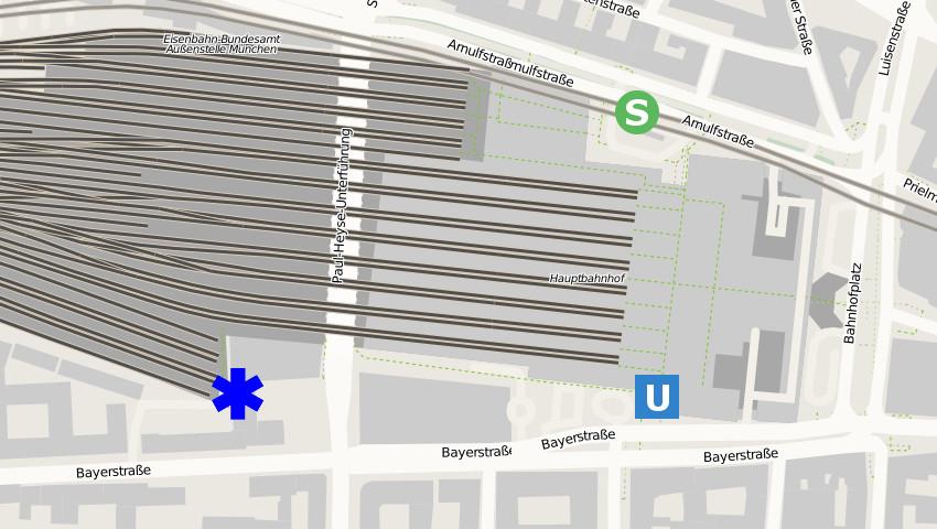 adresse hauptbahnhof münchen